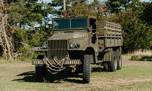 WWII military vehicle at Fort Miles, Delaware