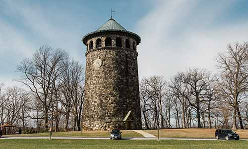 Rockford Tower at Wilmington State Parks offers great views of the city of Wilmington, DE