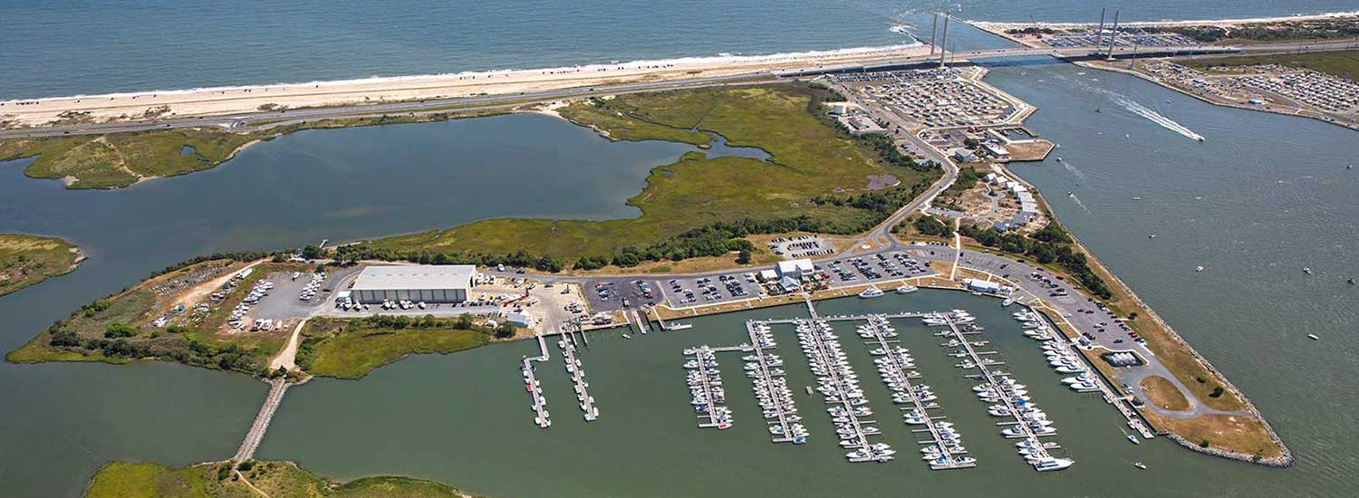 Aerial of Indian River Marina