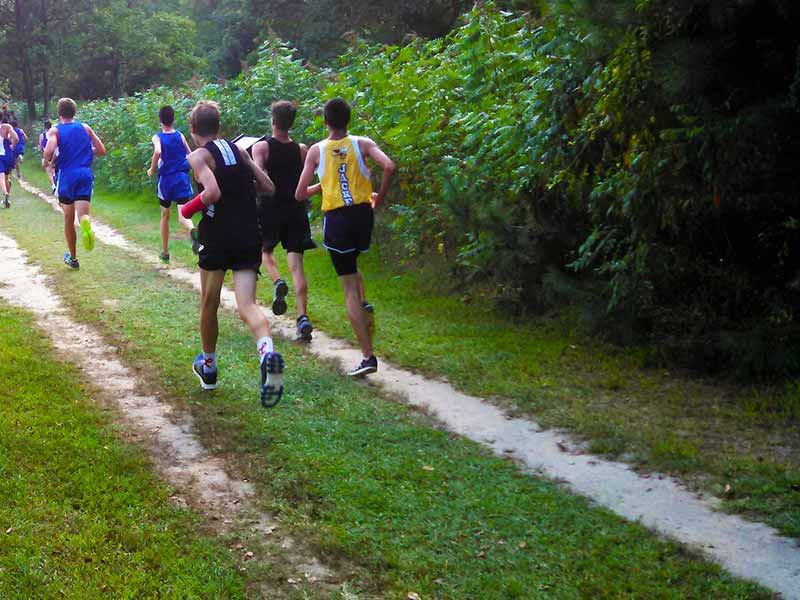 Cross country runners at Brandywine Creek State Park