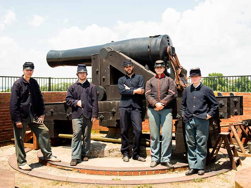 For Delaware cannon and reenactors