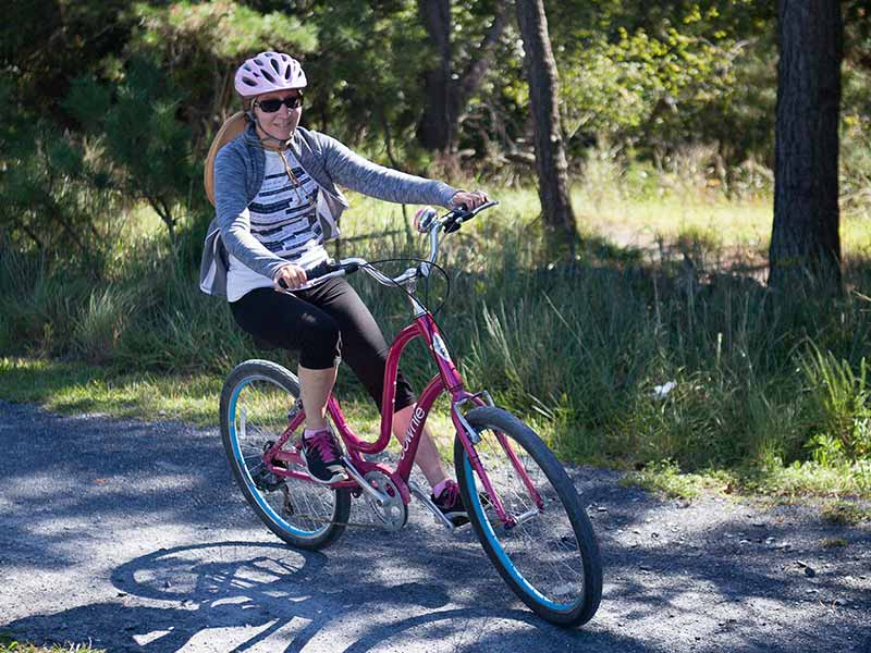 Girl on bicycle - Statewide Comprehensive Outdoor Recreation Plan