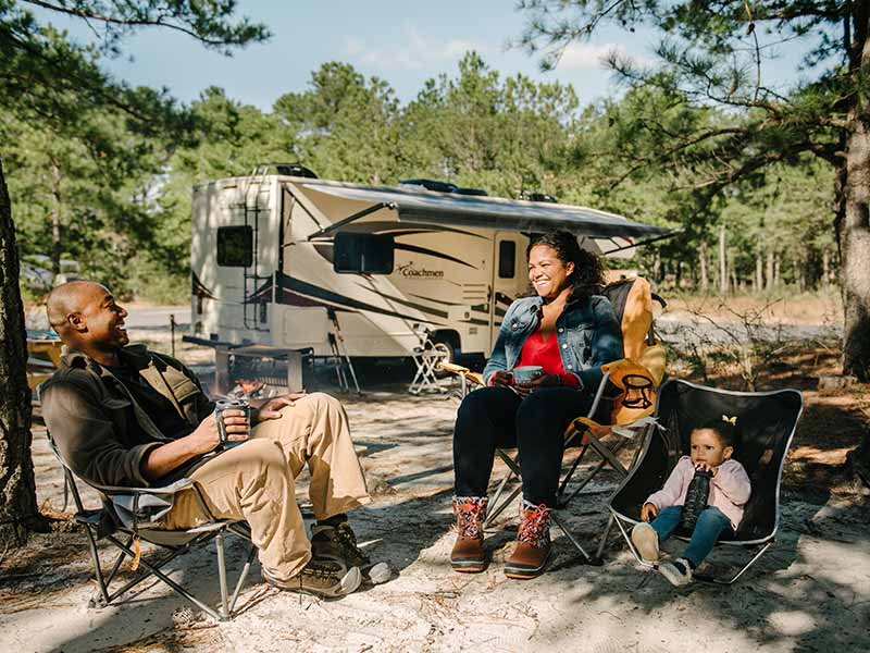 Winter camping at Cape Henlopen State Park