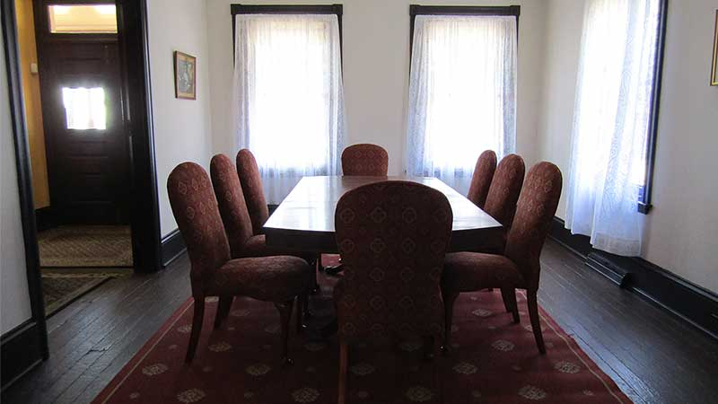 dining room in parsonage