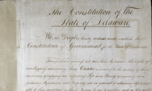 constitution of the state of delaware title