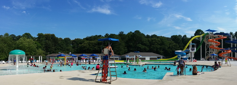 The waterpark at Killens Pond State Park