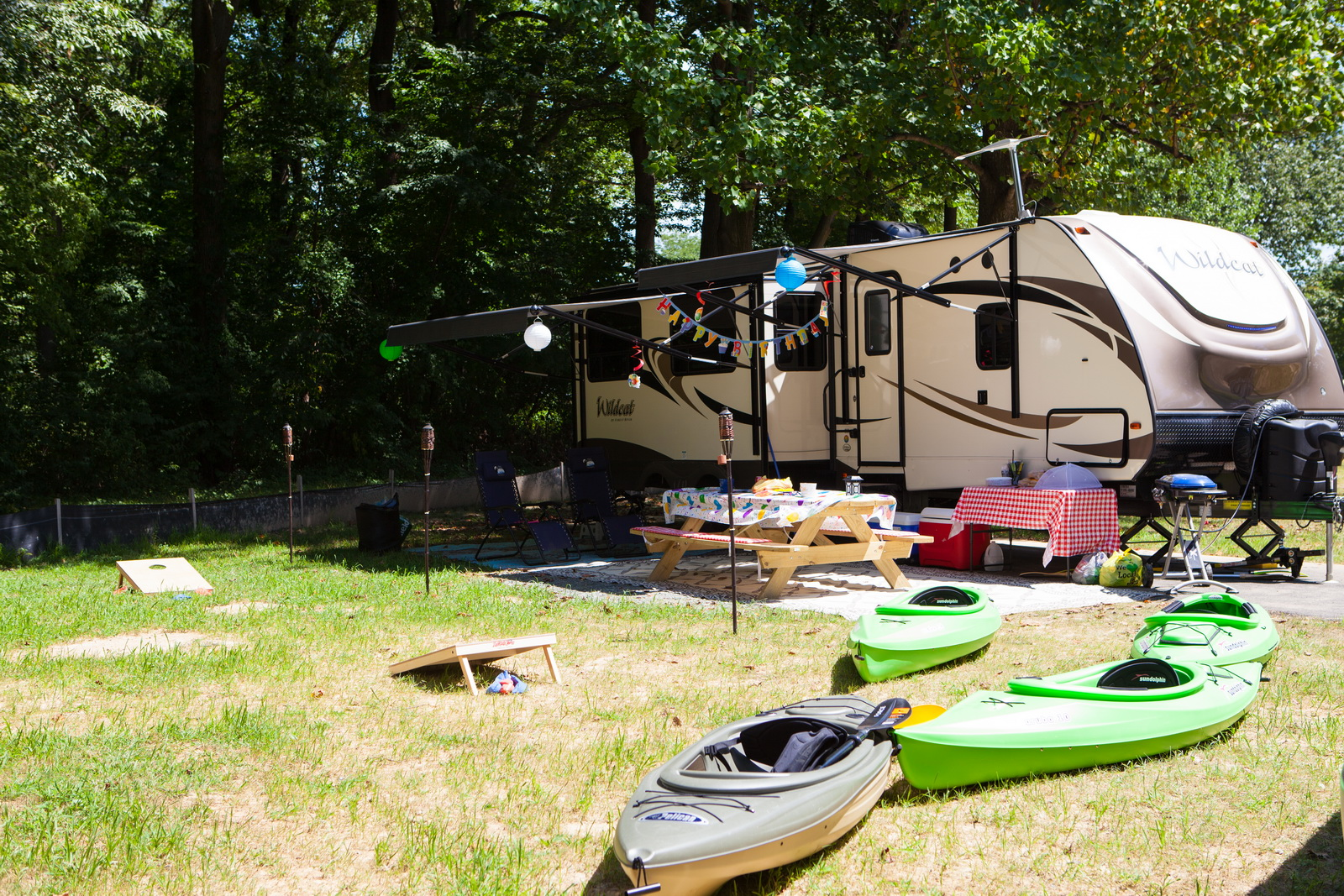 Camping at Lums Pond State Park