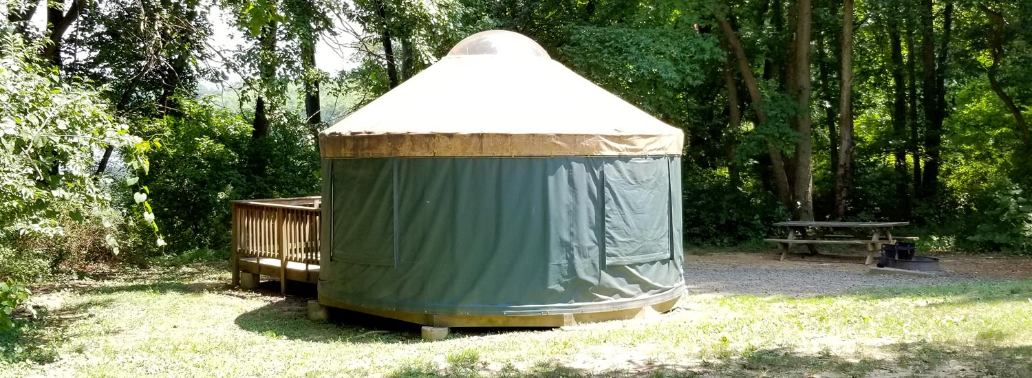 Yurt at Lums Pond State Park